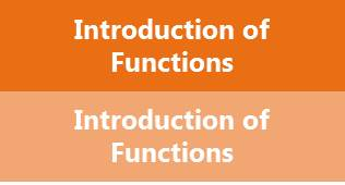 Introduction of functions